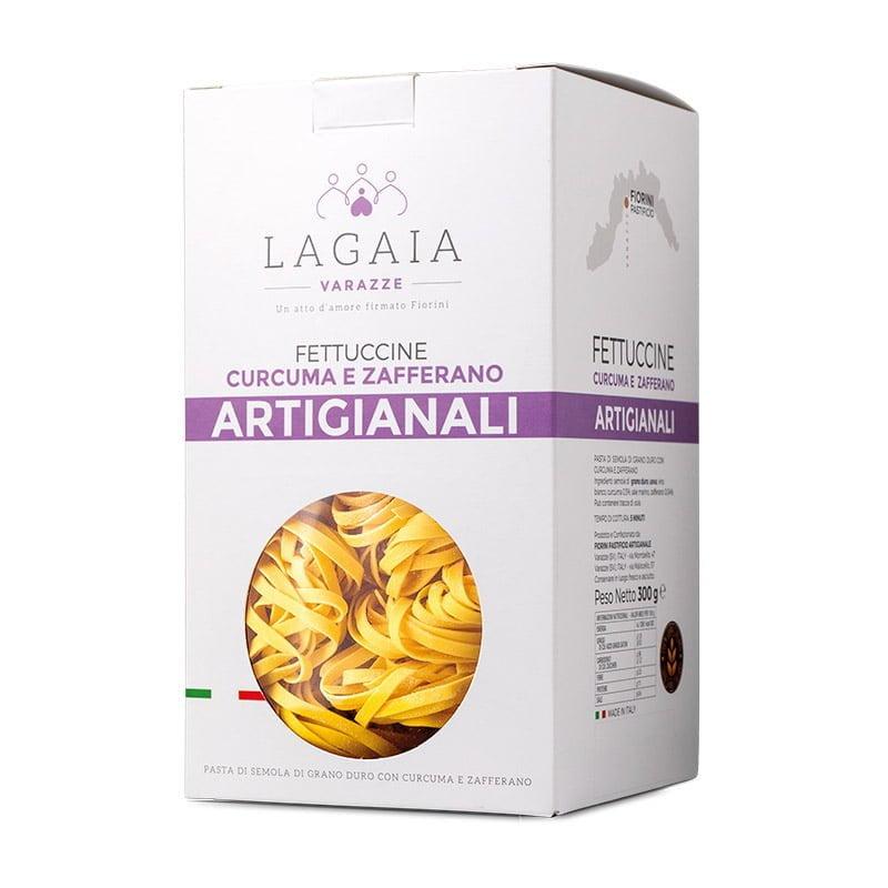 Packaging Turmeric and Saffron Fettuccine